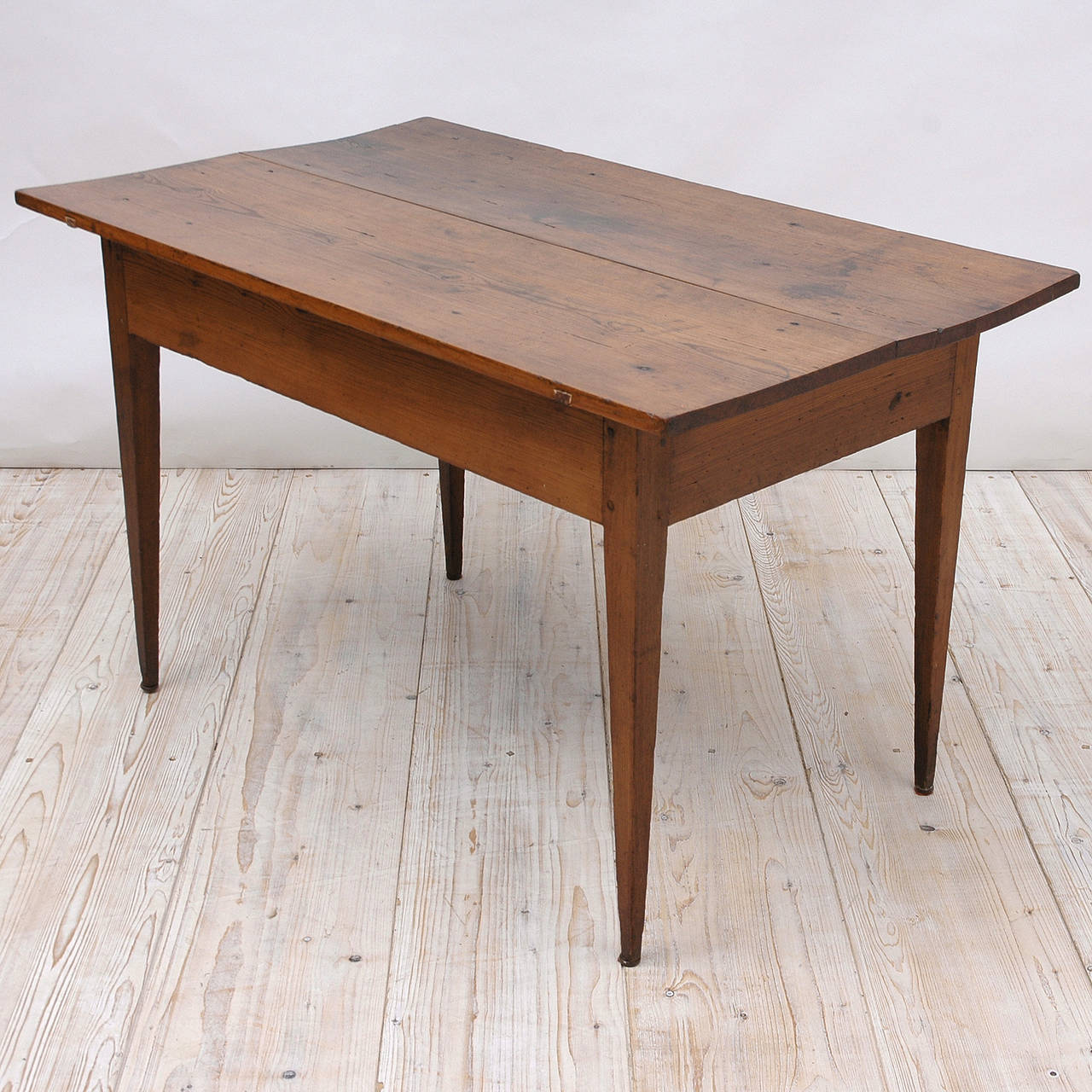 French Provincial 18th Century Country French Pine Table Kitchen Work Table For Sale