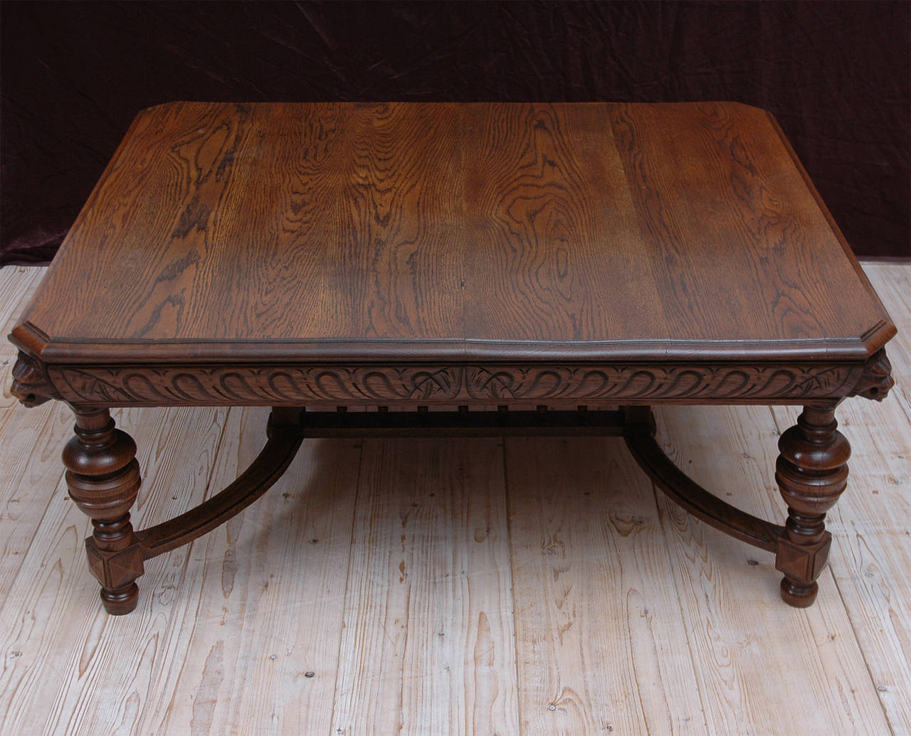19th century renaissance style carved oak coffee table at 1stdibs Carved coffee table