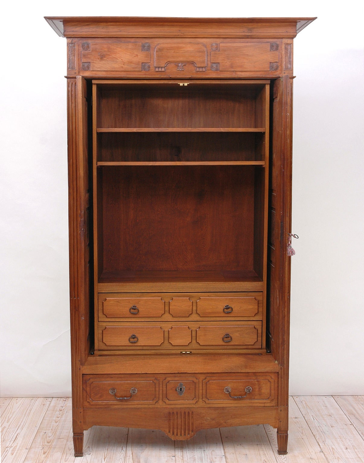 French Directoire Armoire In Walnut For Sale At 1stdibs