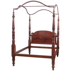 American Federal California King-Size, Four-Poster Bed, circa 1810
