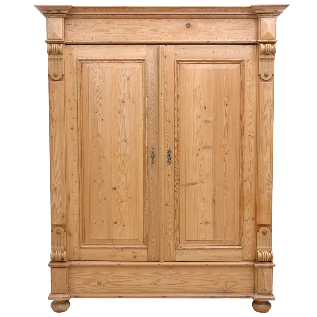 Antique Armoire in Pine from Europe, circa 1880 1 - Antique Armoire In Pine From Europe, Circa 1880 At 1stdibs