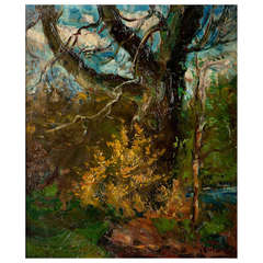 """Forest Landscape"" Oil on Canvas Signed Vantore"