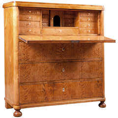 Swedish Biedermeier Fall-Front Secretary in Birch