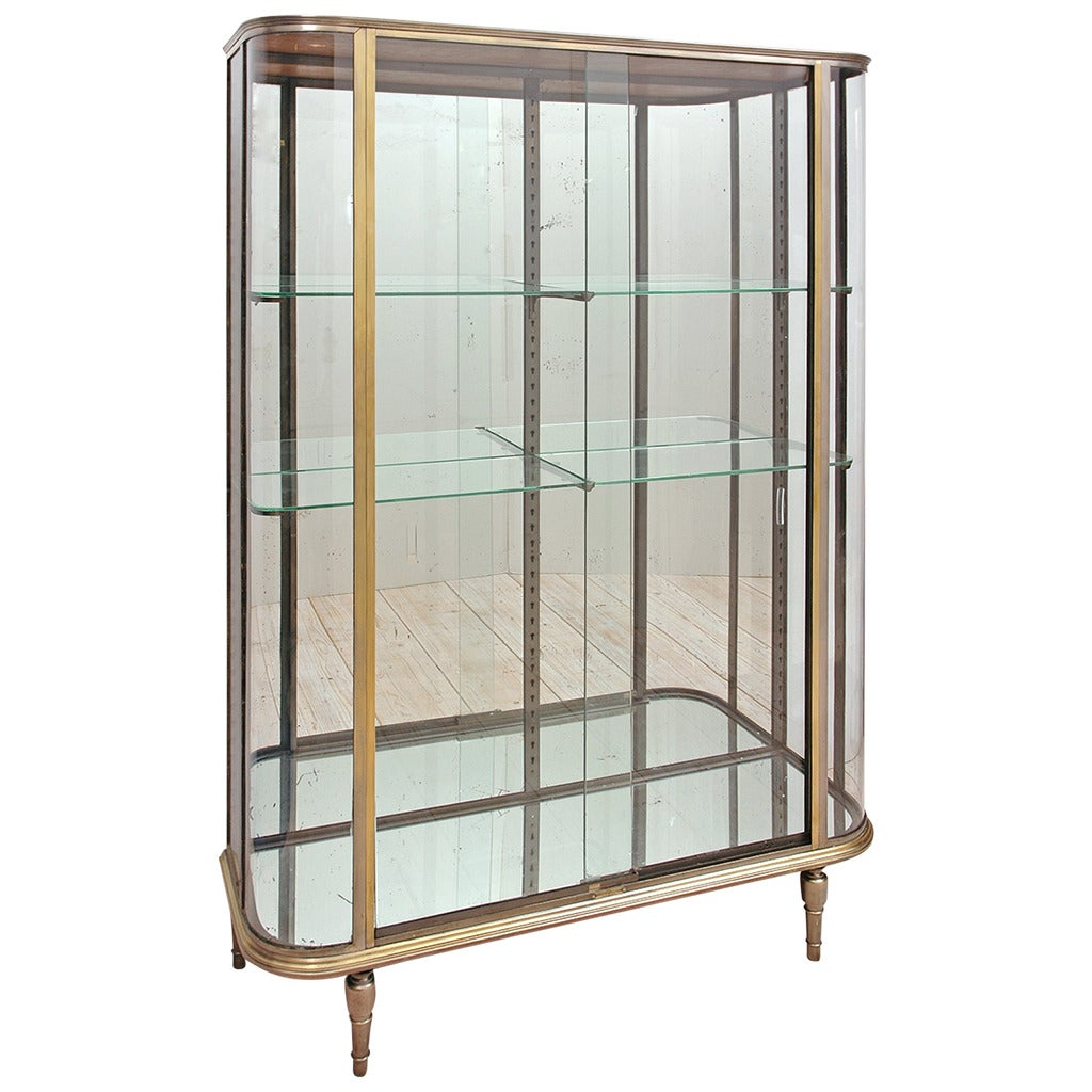 French art deco vitrine or glass cupboard circa 1920 at for Decoration vitrine