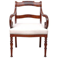 Fine Mahogany Single Armchair or Fauteuil, Northern Europe, circa 1830