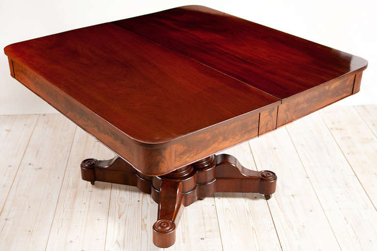 American Empire Cluster Base Dining Table Circa 1830 At 1stdibs