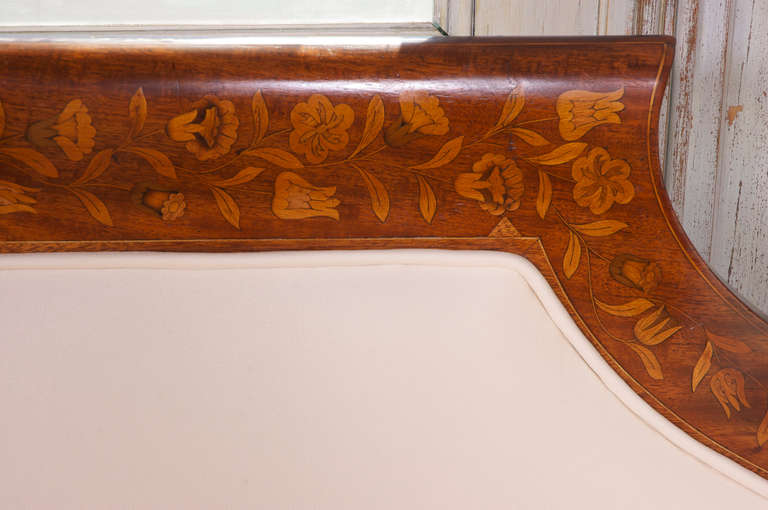 Kingwood Dutch Marquetry Empire Settee, circa 1825 For Sale