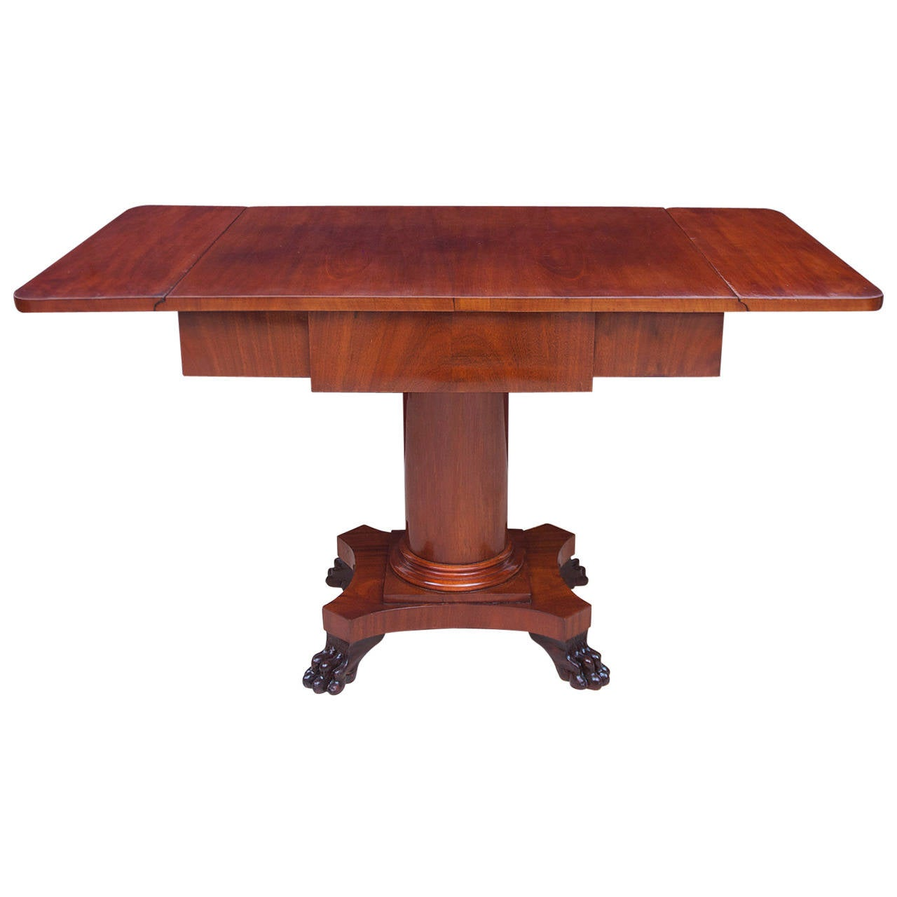 Karl Johan Biedermeier Writing Desk or Sofa Table in Mahogany, Sweden, circa 1840 For Sale