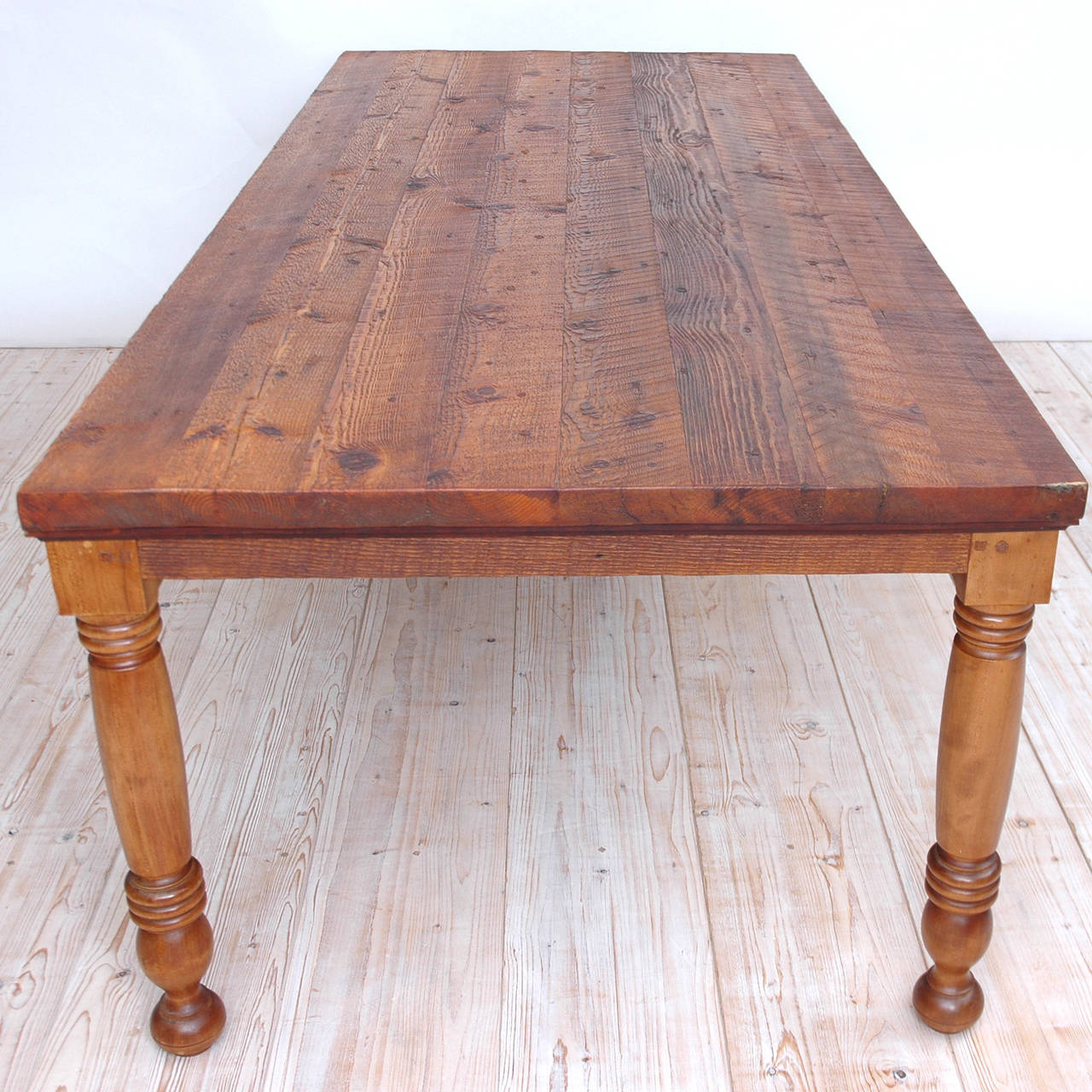 Farm Dining Table For Sale: Vintage Farm House 8' Dining Table In Reclaimed Pine For