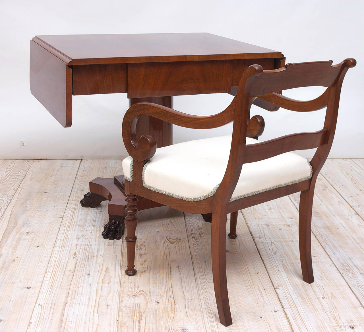Swedish Biedermeier Writing Desk or Sofa Table in Mahogany, Sweden, circa 1840 For Sale
