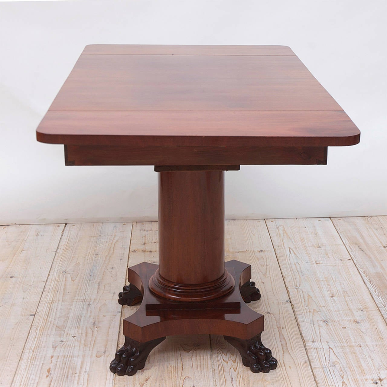 Biedermeier Writing Desk or Sofa Table in Mahogany, Sweden, circa 1840 For Sale 2