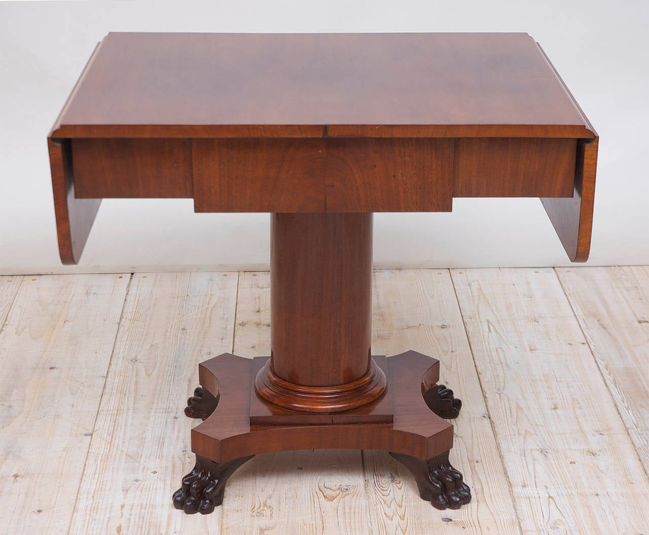 Biedermeier Writing Desk or Sofa Table in Mahogany, Sweden, circa 1840 For Sale 3