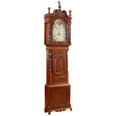 English Tall Case Clock by George Slater in Mahogany, circa 1830
