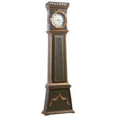 Danish Bornholm Painted Pine Tall Case Clock, circa 1825