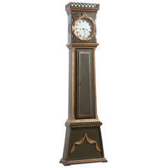 Danish Bornholm Painted Pine Tall Case Clock, circa 1825