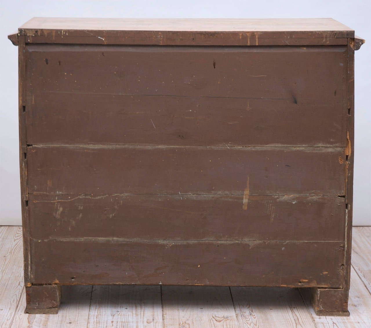 Swedish Karl Johan Biedermeier Chest of Drawers with Pull Out Secretary in Birch For Sale 5