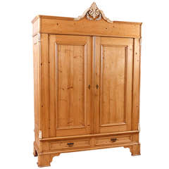 Massive North German Pine Armoire, circa 1850