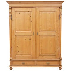 Large 19th Century Pine Armoire