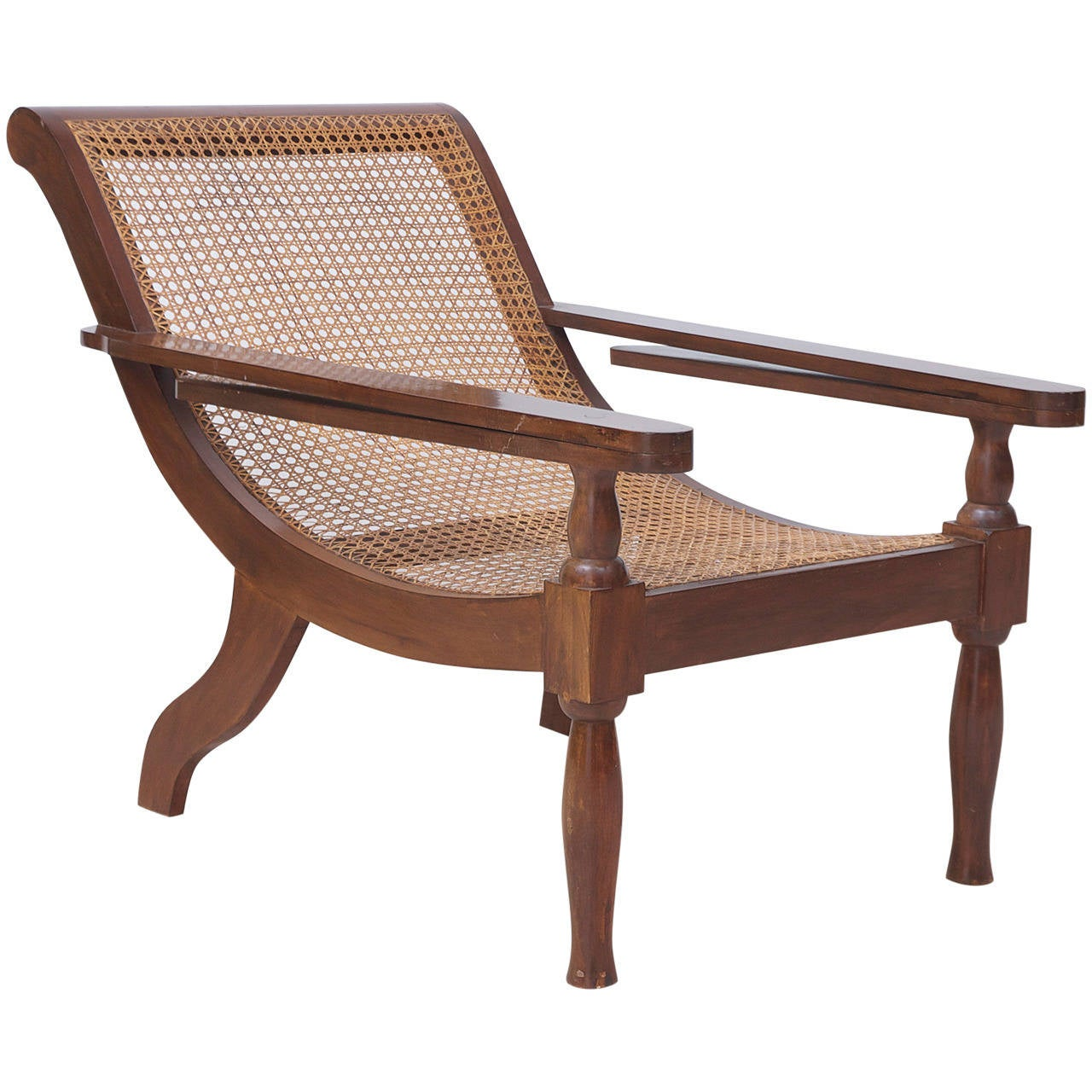 West Indies Planters Chair in Mahogany with Caning 1 - West Indies Planters Chair In Mahogany With Caning For Sale At 1stdibs
