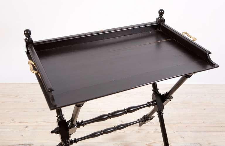 French Napoleon Iii Ebonized Campaign Desk Circa 1860 At