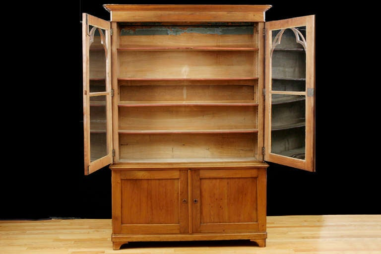 charles x bookcase in cherry circa 1820 for sale