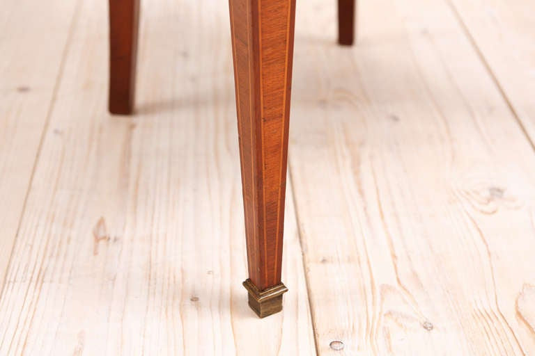 Set of 6 (Six) French Art Deco Gondola Dining Chairs in Mahogany 4