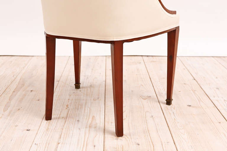 Set of 6 (Six) French Art Deco Gondola Dining Chairs in Mahogany 2