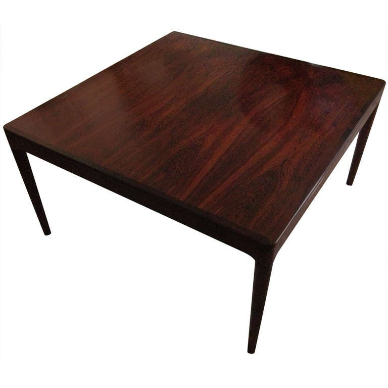 Rosewood cocktail table Milo Baughman