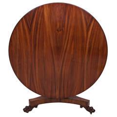 English Regency Round Tilt-Top Center Pedestal Table, circa 1820