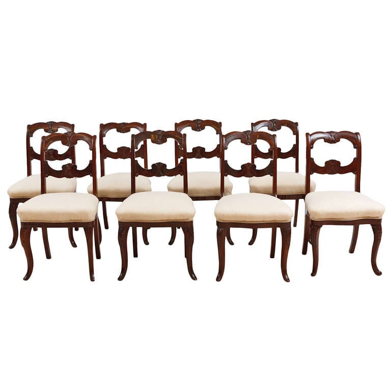 Set Of Eight Charles Boudouine American Dining Chairs New York Circa 1840 F