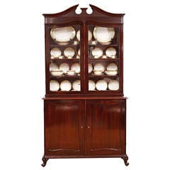 French Louis Philippe Glazed Bookcase/Vitreen in Rosewood, c. 1845