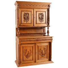French Harvest Buffet in Pitch Pine from Brittany, circa 1860