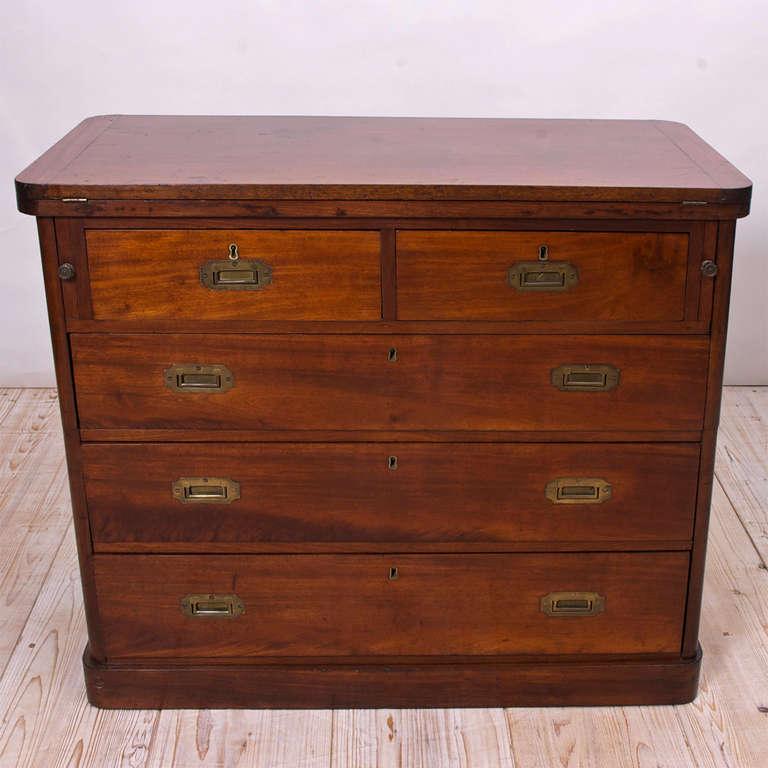 19th century english campaign bureau or desk at 1stdibs. Black Bedroom Furniture Sets. Home Design Ideas