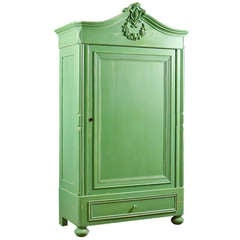 Painted Pine Armoire, Northern Germany or Denmark, circa 1850