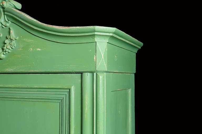 Country Painted Pine Armoire, Northern Germany or Denmark, circa 1850 For Sale