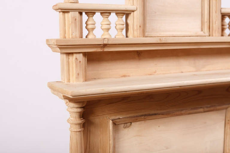 Swedish Dressing Table in Pine with Drawer and Original Back Board, circa 1870 4