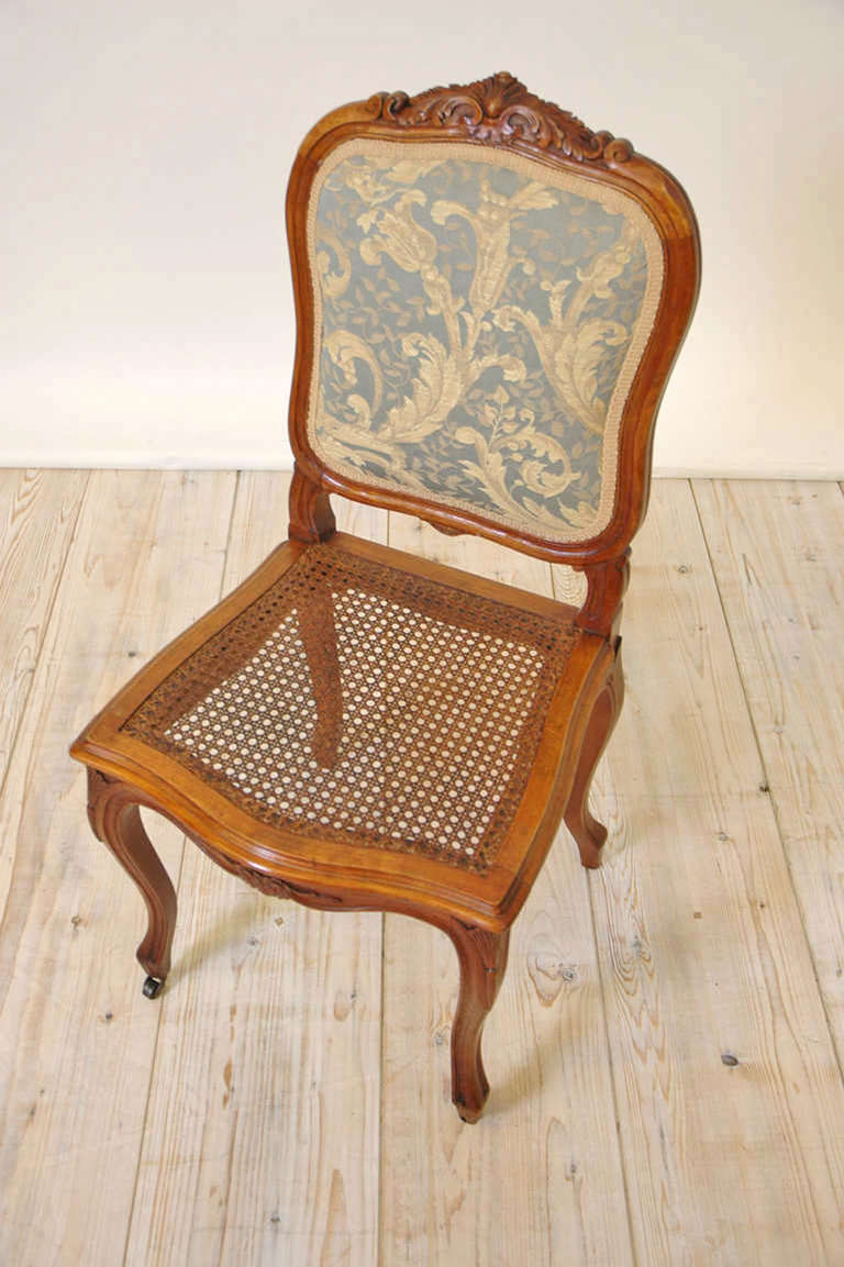 Set Of Six French 19th Century Louis XV Style Dining Chairs For Sale At 1stdibs