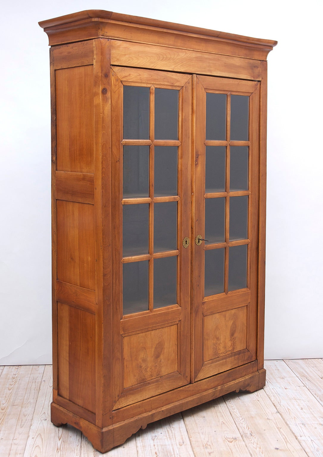 19th century charles x bookcase in cherry for sale