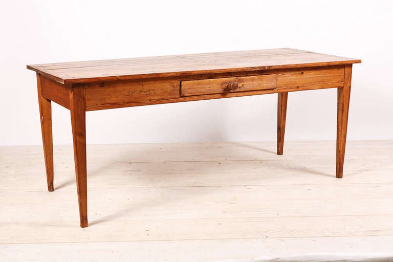 North German Farmhouse Dining Table In Pine C 1800 At 1stdibs