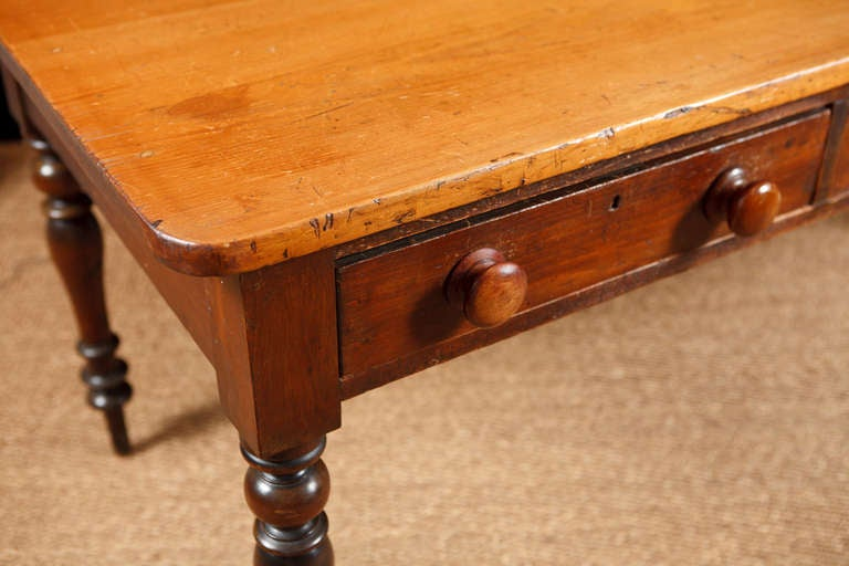 English Pine Farmhouse Dining Table Server or Desk c 1825 image 3