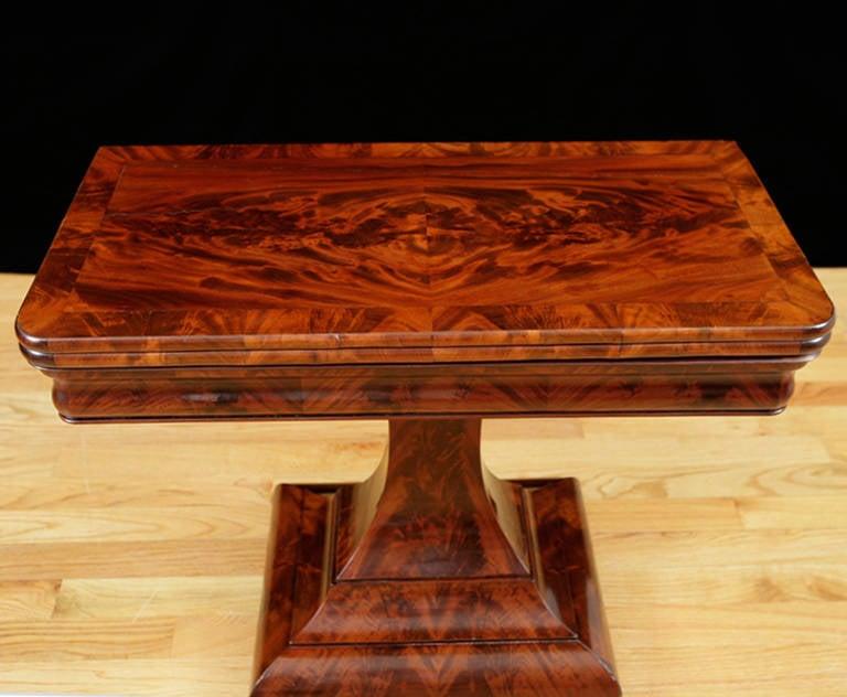 American Empire Game Table In The Grecian Style Circa