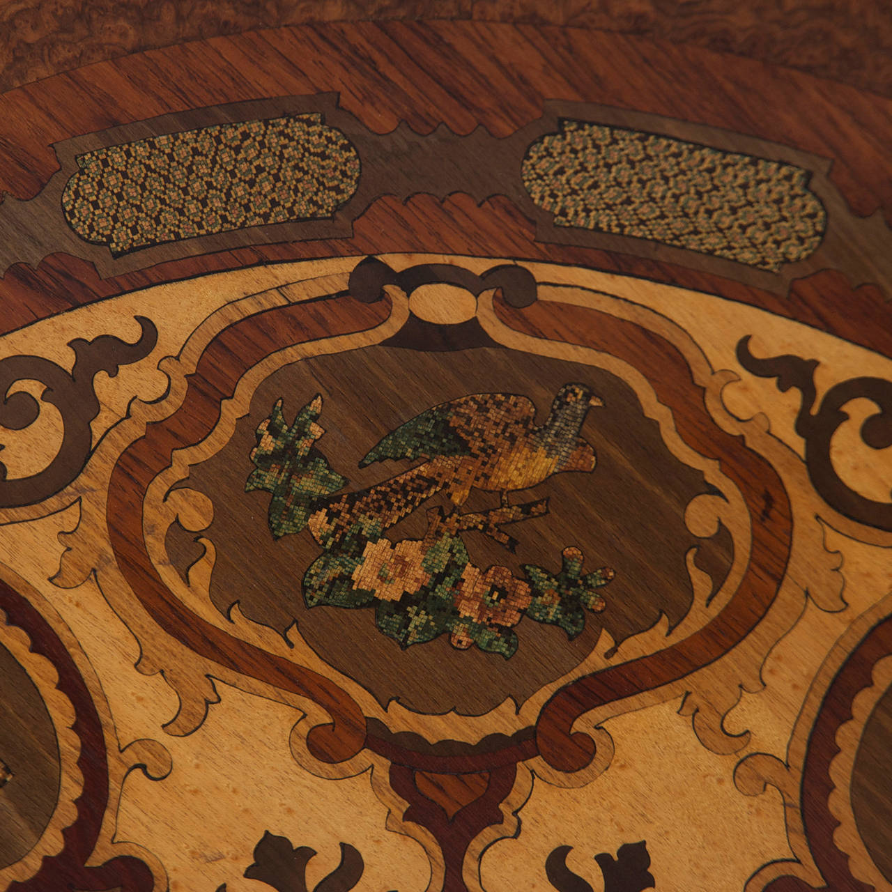 19th Century Italian Center Table with Mosaic Marquetry on Round Top 5