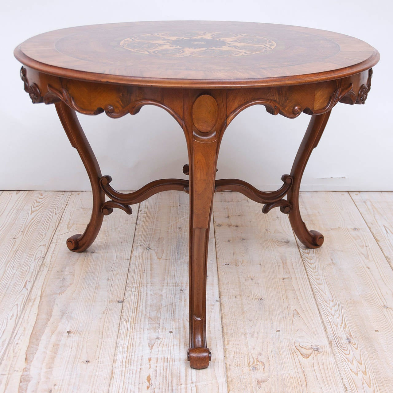 19th Century Italian Center Table with Mosaic Marquetry on Round Top 3