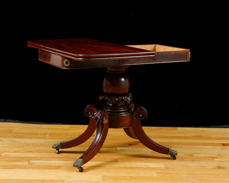Polished American Federal Bostonian Game Table , circa 1815 For Sale