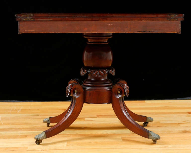 American Federal Bostonian Game Table , circa 1815 For Sale 1