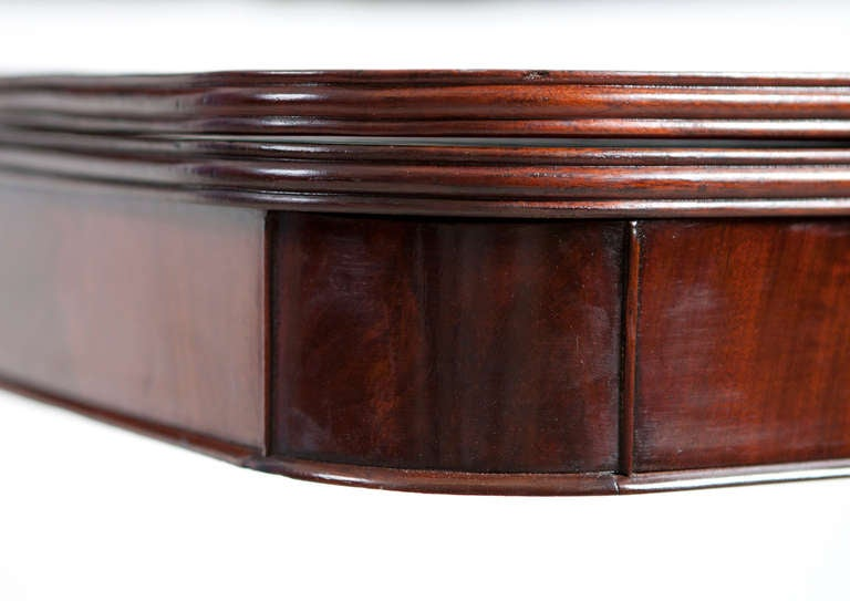 19th Century American Federal Game or Side Table in Mahogany, Boston, circa 1815 For Sale