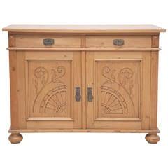 Jugendstiel or Art Nouveau Cabinet in Pine