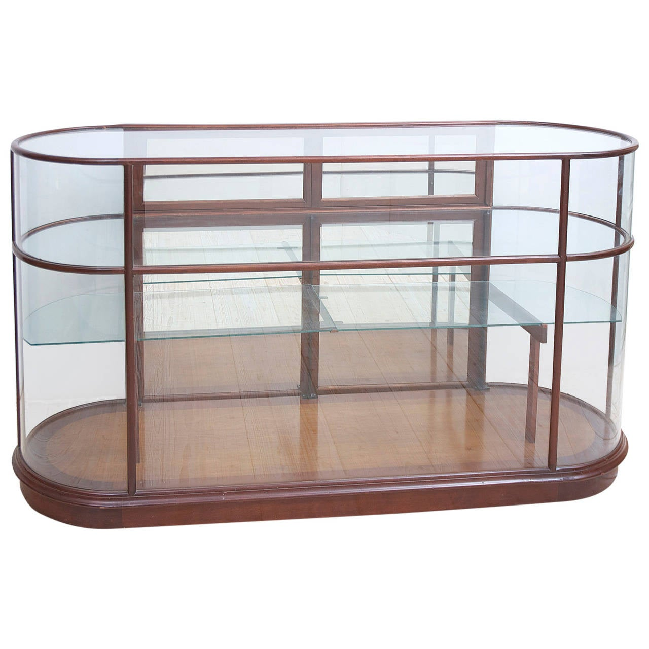 Mid Century Gl Display Cabinet For