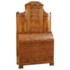 North German Empire/Biedermeier Cylinder-Top Secretary with Bookcase, circa 1815