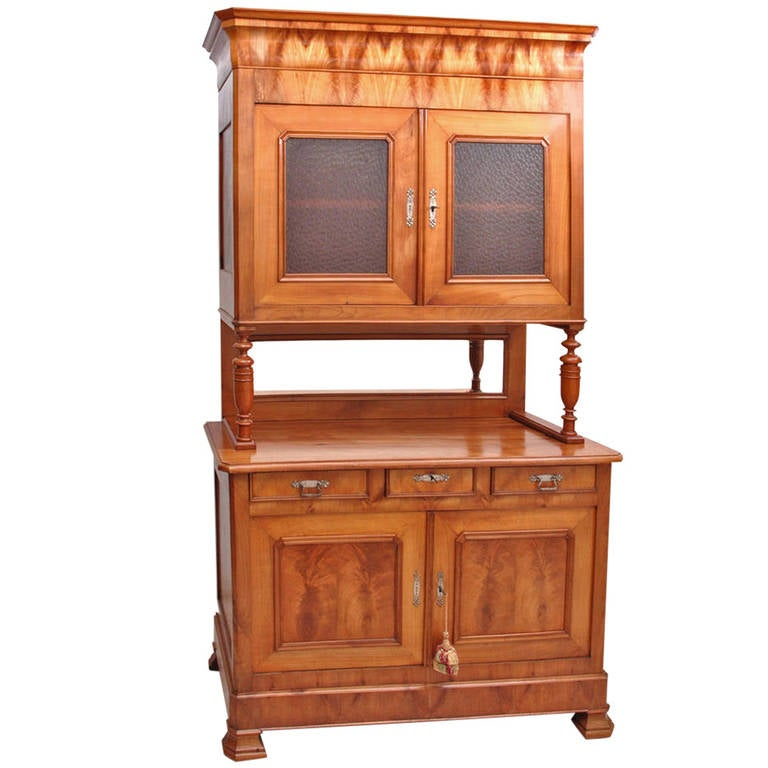 French Louis Philippe Buffet a Deux Corps in Cherry, circa 1840